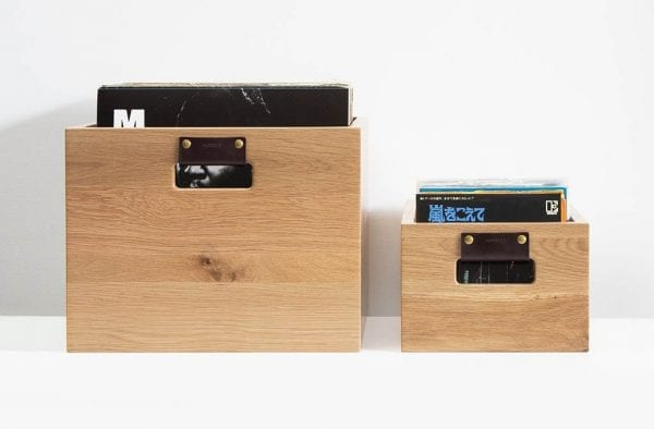 Dovetail Record Crate Oak