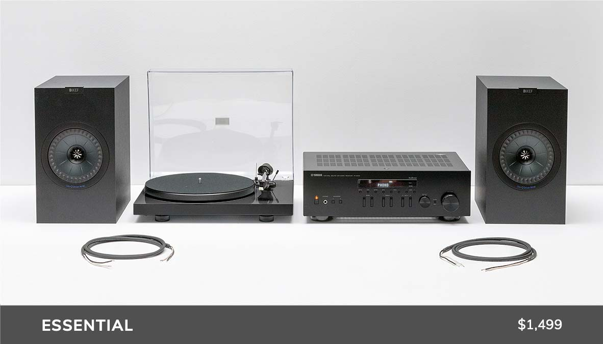 Turntable Package with Yamaha Pro-Ject and KEF Speakers