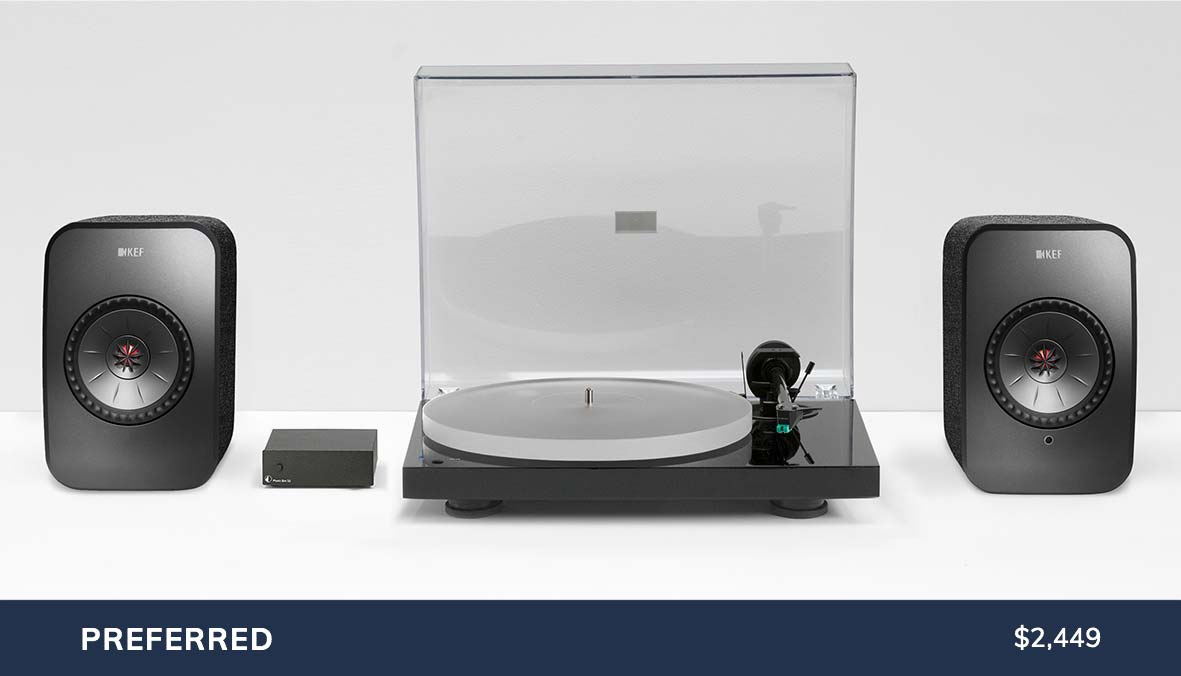 KEF LSX Pro-Ject X1 Turntable Package
